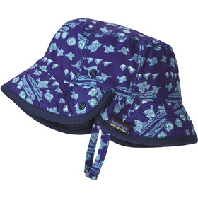 Patagonia Little Sol Hat Kids boulder fish: railroad blue
